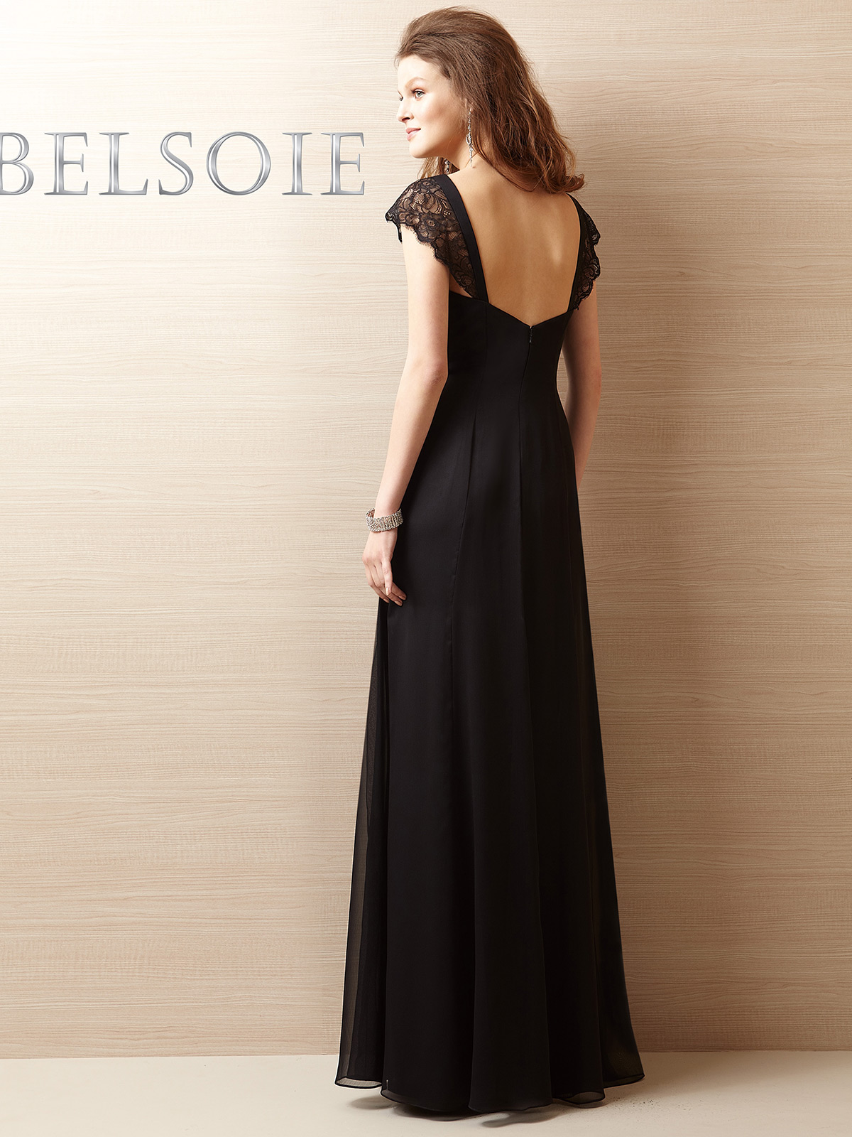 Cap sleeves bridesmaid dress belsoie l144057 ombrellifo Image collections
