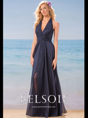 Belsoie L184001 Halter Bridesmaid Dress