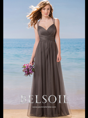 Belsoie L184002 Sweetheart Pleated Bridesmaid Dress