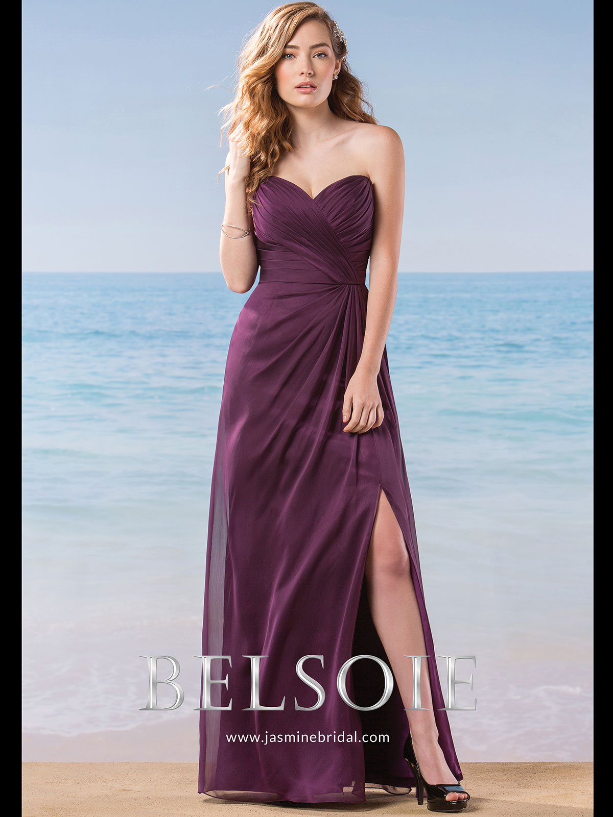 Belsoie L184003 Sweetheart Chiffon A-line Bridesmaid Dress ...