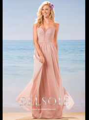 Belsoie L184004 Sweetheart Pleated Bridesmaid Dress
