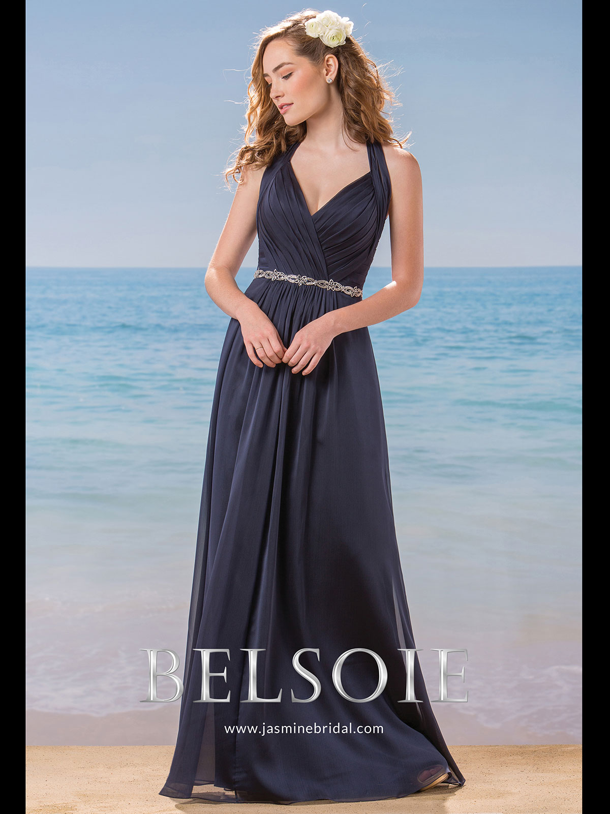 Belsoie l184007 halter chiffon a line bridesmaid dress belsoie l184007 halter pleated bridesmaid dress ombrellifo Image collections