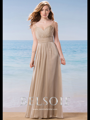 Belsoie L184009 Sweetheart Pleated Bridesmaid Dress