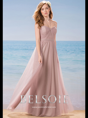 Belsoie L184010 Sweetheart Pleated Bridesmaid Dress