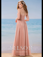 Belsoie L184011 V-neck Beaded Bridesmaid Dress