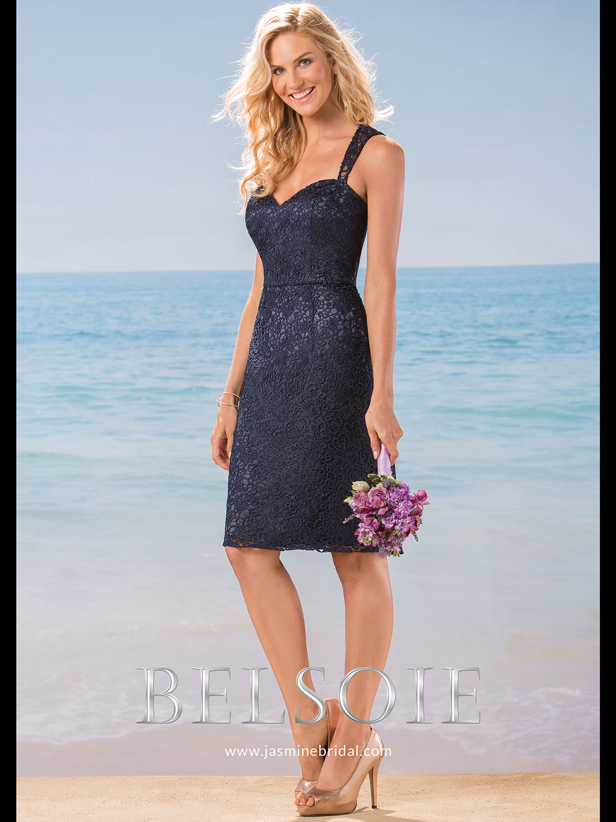 Belsoie l184018 sweetheart lace short bridesmaid dress belsoie l184018 sweetheart lace bridesmaid dress ombrellifo Image collections