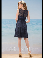 Belsoie L184019 V-neck Lace Bridesmaid Dress