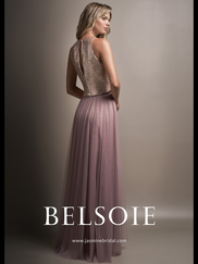 Belsoie L194006 Two Piece Bridesmaid Dress
