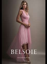 Belsoie L194010 V-neck Ruched Bridesmaid Dress