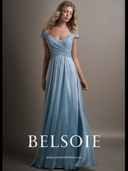 Belsoie L194014 V-neck Lace Bridesmaid Dress