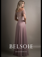 Belsoie L194018 Off The Shoulder Bridesmaid Dress