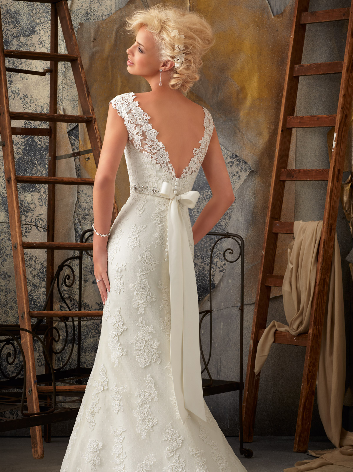 Mori Lee Tea Length Wedding Dress
