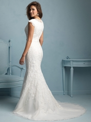 Cap Sleeved Lace Allure Modest Wedding Dress M534
