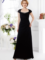 Cap Sleeves Mother Of The Bride Dress Jade J165011