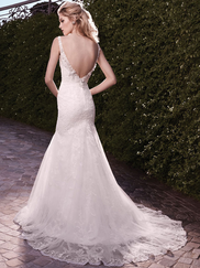 Casablanca 2135 Fit & Flare V-Neckline Wedding Dress