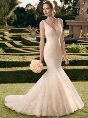 Casablanca 2165 Tank V-Neckline Wedding Dress