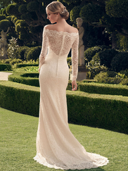 Casablanca 2169 Off The Shoulder Wedding Dress