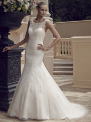 Casablanca 2185 Bateau Neckline Wedding Dress
