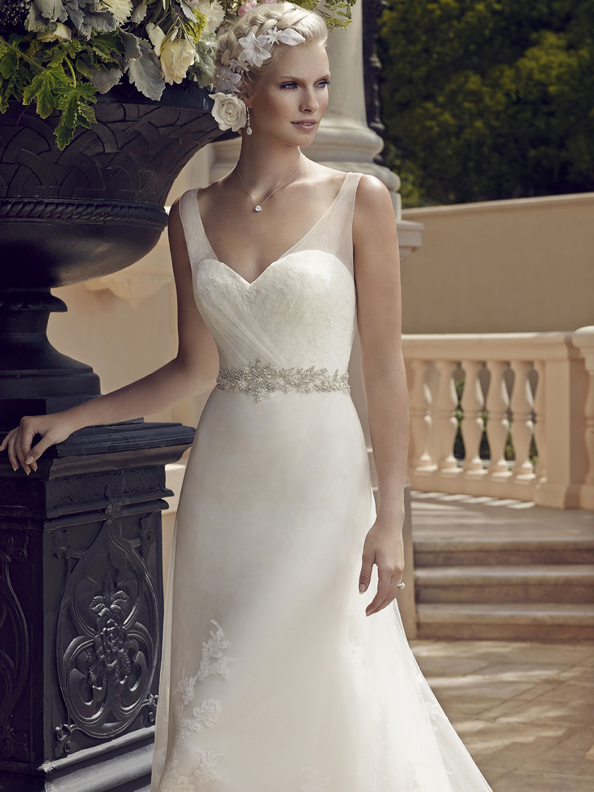 Casablanca 2196 sweetheart bridal gown for Sweetheart wedding dress with straps