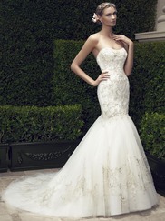 Casablanca 2197 Strapless Sweetheart Wedding Dress