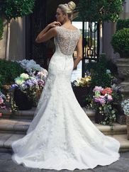Casablanca 2217 Bateau Neckline Wedding Dress