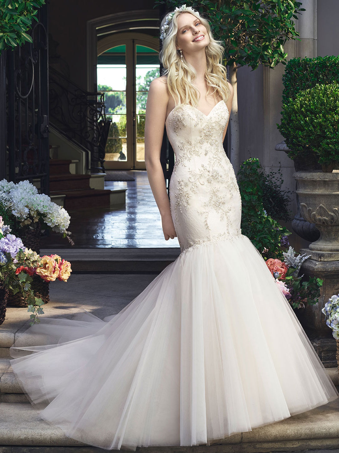 Casablanca 2219 Beaded Bodice Bridal Gown|DimitraDesigns.com