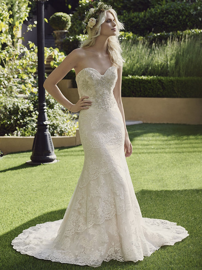 Casablanca 2244 fit and flare bridal gown for Casablanca lace wedding dress