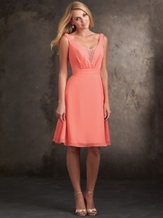 Chiffon A-Line Allure Bridesmaids Short Dress 1420