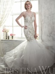 Christina Wu 15606 Illusion Jewel Neckline Bridal Gown