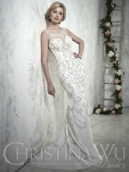 Christina Wu 15608 Illusion Neckline Bridal Gown