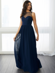 Christina Wu 22800 High Illusion Neckline Bridesmaid Dress