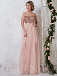 Christina Wu Celebration 22725 Sweetheart Sequin Bridesmaid Dress