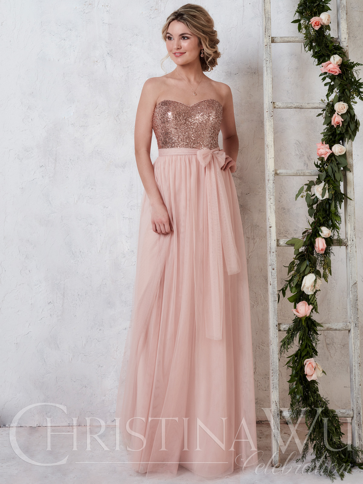 Christina wu 22725 sweetheart tulle a line bridesmaid dress christina wu celebration 22725 sweetheart sequin bridesmaid dress ombrellifo Choice Image