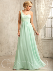 Christina Wu Celebration 22735 One Shoulder Bridesmaid Dress