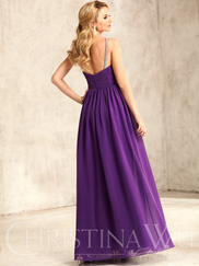 Christina Wu Celebration 22743 High Neck Ruched Bridesmaid Dress