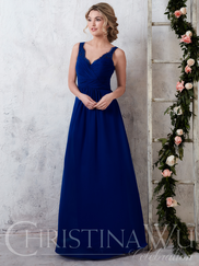 Christina Wu Celebration 22745 Sweetheart Pleated Bridesmaid Dress
