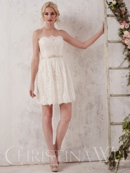 Christina Wu Occasions 22652 A-Line Lace Bridesmaid Gown