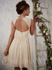 Christina Wu Occasions 22697 Cap Sleeved Bridesmaid Gown