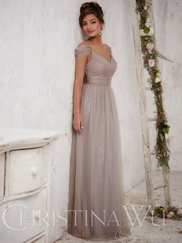 Christina Wu Occasions 22709 Draped Sleeves Bridesmaid Gown
