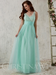 Christina Wu Occasions 22710 Lace Bodice Bridesmaid Gown