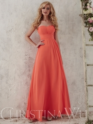 Christina Wu Occasions 22711 Gathered Bodice Bridesmaid Gown