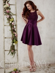 Christina Wu Occasions 22719 Lace Bodice Bridesmaid Gown