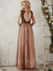 Christina Wu Occasions 22720 Lace Bodice Bridesmaid Gown