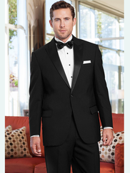 Classic Black Peak Tuxedo - The $99 Tux