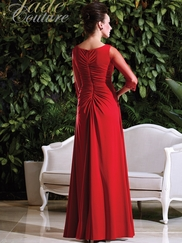 Cowl Neckline Draped Mother Of The Bride Dress Jade Couture K168004