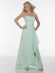 Curved Strapless Neckline Pretty Maids Bridesmaid Dress 22595