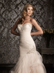 Fitted Allure Bridal Mermaid Wedding Gown 9002
