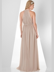Halter Ruched Bridesmaid Dress Bari Jay 852