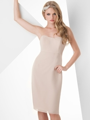 Halter Ruched Bridesmaid Dress Bari Jay 853