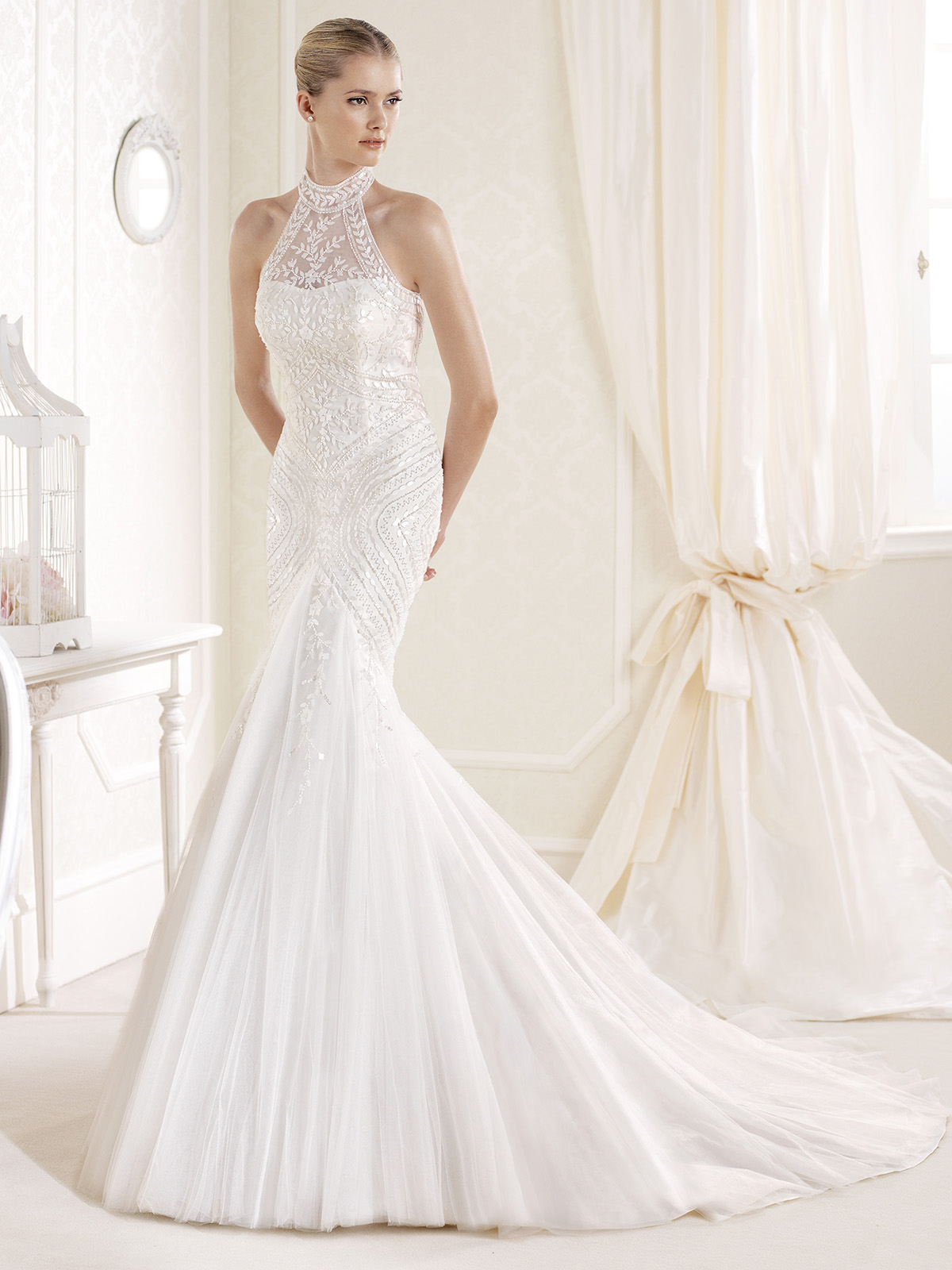 Wedding dress with collar gown and dress gallery for High collar wedding dress